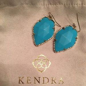 Kendra Scott Blue Gold Corley Turquoise Earrings
